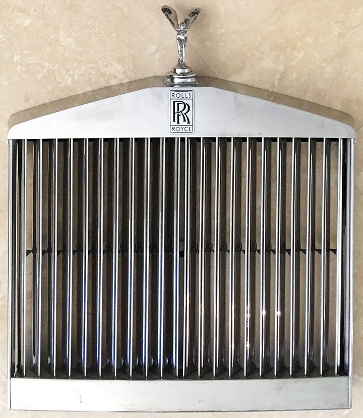 1968 rolls royce silver shadow chrome grille spirit of ecstasy flying lady. Black Bedroom Furniture Sets. Home Design Ideas