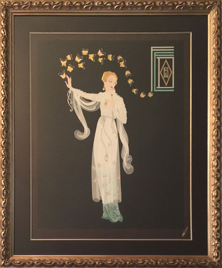 Erte - Collection of 9 Original Limited Edition Serigraphs Embossed ...